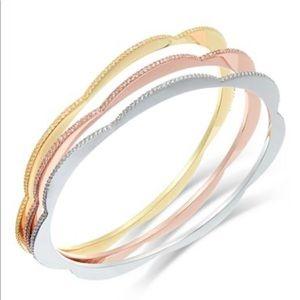 Kate Spade Tri-Tone Triple Bracelets